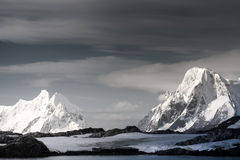 Snow-capped mountains in Antarctica Stock Photos