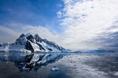 Snow-capped mountains in Antarctica Stock Photography