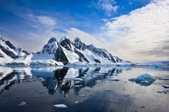Snow-capped mountains in Antarctica Stock Image