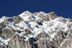 Snow capped mountains, austrian alps, Innsbruck Royalty Free Stock Photo