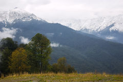 Snow-capped mountains Royalty Free Stock Images