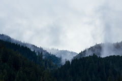 Snow Capped Mountains and Hills Royalty Free Stock Image