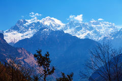 Snow capped mountains Royalty Free Stock Images