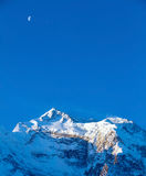 Snow capped mountains Royalty Free Stock Image