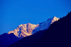 Snow capped mountains Stock Image