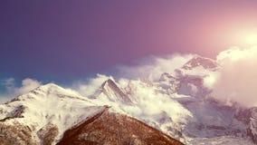 Snow capped mountains Stock Photo