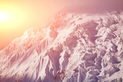 Snow capped mountains Royalty Free Stock Photos