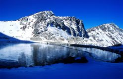 Snow-capped Mountains and lake Royalty Free Stock Photography