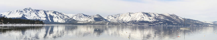 Snow Capped Mountains in Lake Tahoe Stock Images