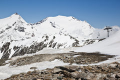 Snow-capped mountains at Molltaler Glacier Royalty Free Stock Photography