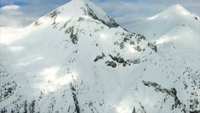 Snow-capped mountains stock video footage