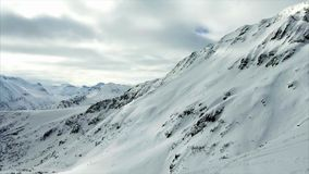 Snow-capped mountains stock footage