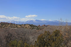 Snow capped mountains New Mexico Stock Photography