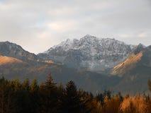 Snow capped mountains Stock Photos