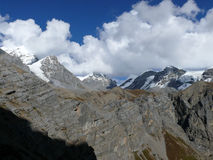 Snow capped mountains - from Thorong Phedi, Nepal Stock Photos