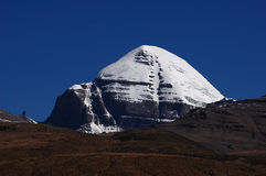 Snow-capped mountains in Tibet royalty free stock photography