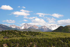 Snow capped Mountains in Utah, USA. Snow capped Mountains in the summers in Utah, USA Royalty Free Stock Images