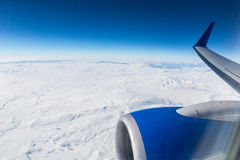 Snow-capped mountains - view from above Stock Image