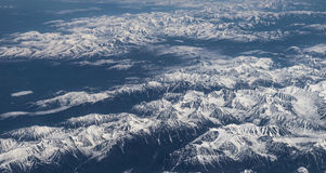 Snow-capped mountains. Stock Image