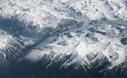Snow-capped mountains. Stock Photo