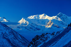 Snow capped mountains Royalty Free Stock Photography