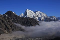 Snow capped Mt Cholatse. Stock Image