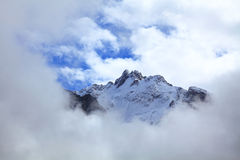 Snow-capped peak Stock Photo