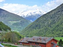A Snow Capped Peak of the Swiss Alps royalty free stock photos