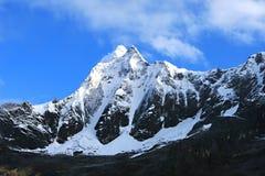 Snow Capped Peaks in Cordillera Blanca Stock Images