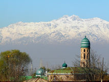 Snow-capped peaks of the Hissar range Royalty Free Stock Photo