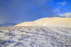 Snow capped Pen Yr Helgi Du Stock Image