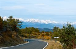 Snow-capped Pyrenees Royalty Free Stock Photography
