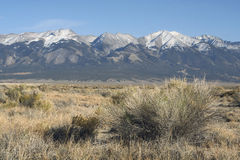 Snow capped Rocky Mountains Stock Image