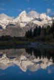Snow Capped Teton Reflection at Sunrise Royalty Free Stock Image
