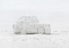 Snow car royalty free stock photos
