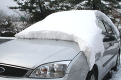 Snow car stock photo