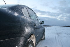 Snow car Stock Photography