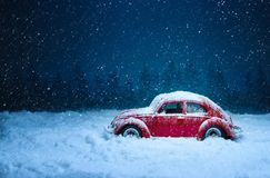 Snow, Car, Blue, Winter royalty free stock image