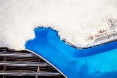 Snow on a car Stock Photo