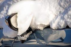Snow on a car Stock Photography