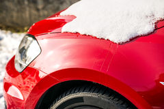 Snow on a car Royalty Free Stock Images