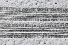Snow car tracks Royalty Free Stock Images