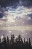 Snow in the Carpathian mountains. A winter journey through Eastern Europe. Wild nature of the Carpathian mountains. Mountain valley in the winter. The wildlife Royalty Free Stock Photography