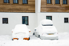 Snow cars Royalty Free Stock Image