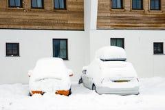 Snow cars Royalty Free Stock Image