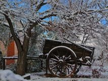 Snow in the cart Royalty Free Stock Photography