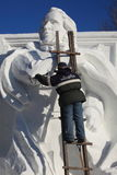 Snow Carving. In winter Harbin China Royalty Free Stock Photo