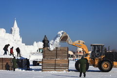 Snow Carving. In winter Harbin China Stock Photography