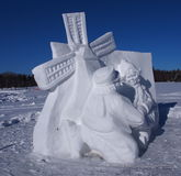 Snow Carving Of Windmill Royalty Free Stock Photo