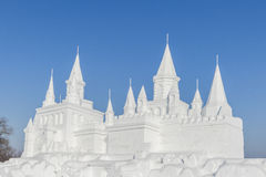 Snow castle Royalty Free Stock Images